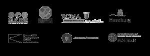 Star cities partnerių logotipai